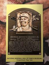 Ken Griffey Jr. Postcard- Baseball Hall of Fame Induction Plaque - Photo