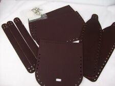 Thick Dk Brown Leather Handbag Shoulder Bag Pre-Cut & Pre punched Kit