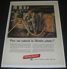 Print Ad 1952 Western Electric ART by Robert Benny Fiery Snake red-hot copper.