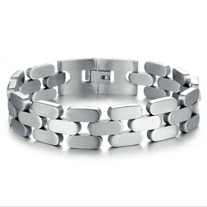 High Quality Mens Thick 316L Stainless Steel Chain Bracelet - Adjustable
