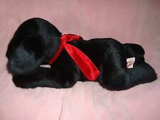 "GINGER Dog Black Lab Plush & Beans RUSS Berrie 18"" long"