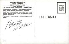 ROBERTO DURAN Autograph - Las Vegas
