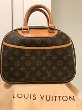 AUTH LOUIS VUITTON TROUVILLE HAND BAG MONOGRAM CANVAS LEATHER BA1004