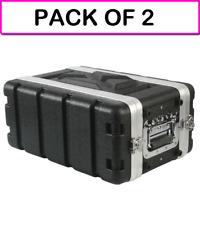 "(2-Pack) Mcm 555-19502 Shallow Abs 19"" Rackmount Flight Case - 4Ru Pa / Dj"