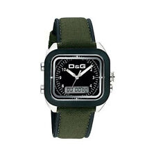 D&g Dolce and Gabbana Men's Watch DW0297 Vocals Green Analogue, Digital Leather,