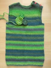 Baby Kind Junge Mädchen Weste Strickweste Pullunder Wolle grün bunt 86 92 98 neu