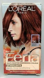 L'Oreal Paris Feria multi faceted shimmering Hair Color 56 Auburn Brown Red