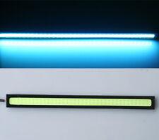 2x car Ice Blue Waterproof LED 12V Daytime Running Light DRL COB Strip Lamp 17cm