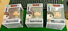 3 x Pop TV Stranger Things figures Ghostbuster Mike 546 & Will 547 & Eleven 545
