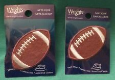 """New listing New Wrights Iron On Applique Football One Pair (2) Approx' 2 1/4"""" X 1 1/4"""""""