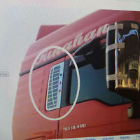Rear Window Grid Dekorativ Aufkleber Metal Decal für Tamiya 1/14 MAN TGX RC Auto