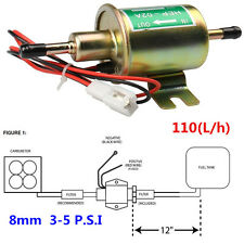 12V Electric Fuel Pump Gas Diesel Inline Low Pressure Solid Petrol Pumps HEP-02A