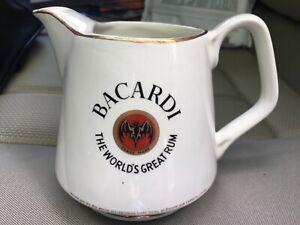 "Arklow BACARDI ""The World's Great Run"" 4.5"" Ceramic Pitcher Mug Made in Ireland"