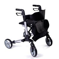 SpeedCare folding lightweight 4 wheeled rollator walker walking frame with seat
