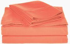 5-pc Split King Size Superior Coral Comfy Cotton Blend Sheet Set
