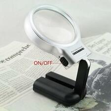 For Reading Giant Large Hands Free Magnifying Glass With Light LED Magnifier CA