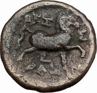 THESSALIAN LEAGUE Larissa 196BC Greek Coin ATHENA APOLLO Healer Cult   i43392