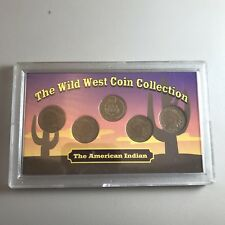 Wild West Coin Collection - 5 Indian Head Cents/Pennies - Sealed in Case - Nice!