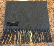 "V FRAAS SCARF Gray Solid Germany Scarf Soft Acrylic 44"" x 12"""