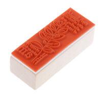 1 STÜCKE Holz Stempel Retro Style Briefmarken für Scrapbooking