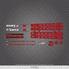 01450 Cannondale Bicicletta Adesivi-Decalcomanie-Transfers-ROSSO CON CHIAVE NERO