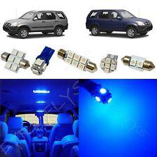 6x Blue LED lights interior package kit for 2002-2006 Honda CR-V HV2B