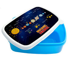 Personalised Boy PLANETS Lunch Box School Snack Sandwich Space Lunchbox ST135