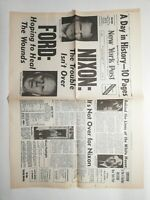 N199 La Une Du Journal new York post 9 août 1974 Nixon the trouble isn't over