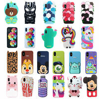 3D Cartoon Animals Soft Silicone Kids Case Cover For iPhone XS Max X 8 7 6S SE 5