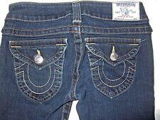 True Religion Women Jeans Julie Button Flap Distressed Slim Skinny 26 x 35 $180