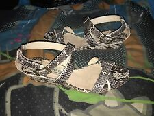 Jimmy Choo Python Snakeskin Strappy Connor Ankle Small Wedge Sandal Size Uk 5 38