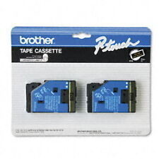 "Brother 1/2"" (12mm) Gold on Black P-touch Tape for PT10, PT-10 Label Maker"