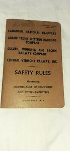 Canadian National Railways Safety Rules 1952 Book
