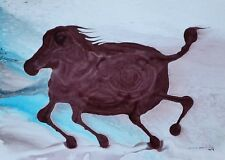 Tonito Original painting.Otherworldly Organic realistic art.Horse out to lunch.