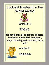 Personalised Birthday, Anniversary Card Husband Partner Boyfriend Funny Humorous