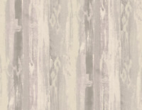 Striped Wallpaper in Lilac, Gray, Silver, Inspired by Tribal Abstract Etchings