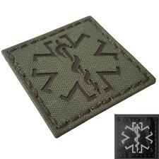IR star of life medic EMS OD green morale infrared 2x2 hook-and-loop patch