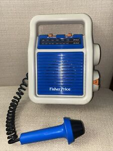 Vintage 1984 Fisher Price My First AM/FM Sing-Along Radio With Microphone Works