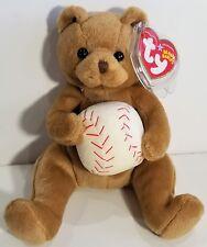 "TY Beanie Babies ""SHORTSTOP"" Baseball Teddy Bear - MWMTs! GREAT GIFT! MUST HAVE!"