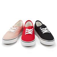 Women Canvas Sneaker Casual Core Classic Skate Shoes Low Cut Espadrilles Lace up