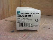 Benedikt & Jager U12/16AX0159 Thermal Overload Relay New CSQ