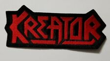 kreator red logo     EMBROIDERED  PATCH