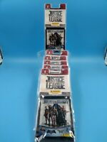 neuf lot 6 blister stickers panini justice league 48 pochettes