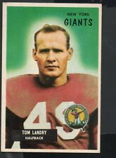1955 Bowman Football Card #152 Tom Landry-New York Giants & Dallas Cowboys
