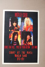 Motley Crue Concert Tour Poster 1983 1984 World Tour Shout at the Devil #1