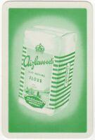 Playing Cards 1 Single Swap Card - Vintage Advertising AIZLEWOODS FLOUR Baking