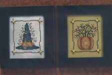 BITTERSWEET AUTUMN--Pumpkin--Witches Hat--Counted Cross Stitch Pattern