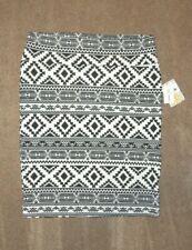 LuLaRoe Cassie 3XL ~ Black White Aztec Print Skirt ~ Stunning