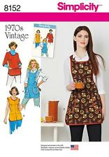 SIMPLICITY SEWING PATTERN VINTAGE 1970s MISSES' APRONS 8152 A