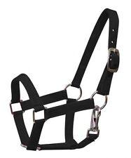 """""""Black""""  Mini Horse  size Nylon Halter"""